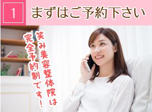 神戸市西区玉津・笑み美容整体院のセルライトケア施術の流れ1